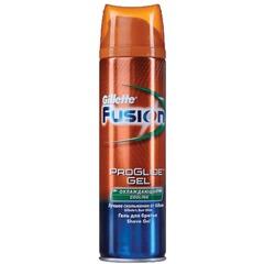 """Гель для бритья 200 мл, GILLETTE (Жиллет) Fusion, """"Cooling"""", охлаждающий, для мужчин"""
