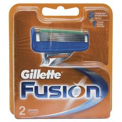 """Сменные кассеты для бритья GILLETTE (Жиллет) """"Fusion"""", 2 шт., для мужчин"""