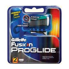 """Сменные кассеты для бритья GILLETTE (Жиллет) """"Fusion ProGlide"""", 2 шт., для мужчин"""