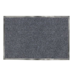 Коврик входной ворсовый влаго-грязезащитный ЛАЙМА/ЛЮБАША, 90х120 см, ребристый, толщина 7 мм, серый