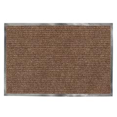 Коврик входной ворсовый влаго-грязезащитный ЛАЙМА/ЛЮБАША, 90х120 см, ребристый, толщина 7 мм, коричневый