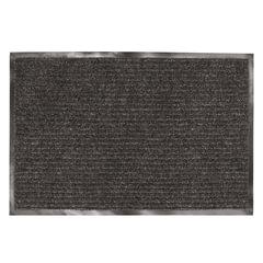 Коврик входной ворсовый влаго-грязезащитный ЛАЙМА, 120х150 см, ребристый, толщина 7 мм, черный