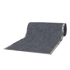 Коврик-дорожка ворсовый влаго-грязезащитный ЛАЙМА, 120х1500 см, ребристый, толщина 7 мм, серый
