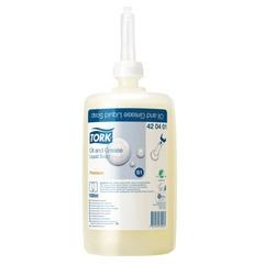 Картридж с жидким мылом-очистителем одноразовый TORK (Система S1) Premium, 1 л, 420401