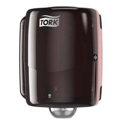 Диспенсер для протирочной бумаги TORK (W2) Performance, maxi, с центральной вытяжкой, черный, 653008