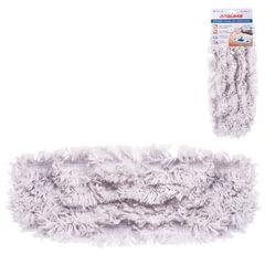 """Насадка МОП для швабры ЛАЙМА """"Бюджет"""", карманы, 40х10 см, хлопок, ворс 4,5 см, для сухой и влажной уборки"""