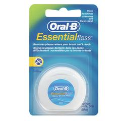 Зубная нить, 50 м, ORAL-B (Орал-Би) Essential floss