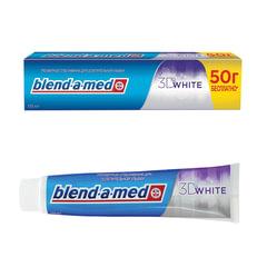 "Зубная паста, 150 мл, BLEND-A-MED (Бленд-а-Мед) 3D White ""Трёхмерное отбеливание"""
