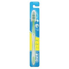 """Зубная щетка ORAL-B (Орал-Би) 1-2-3 """"Чистота-Свежесть-Сила"""", средняя"""