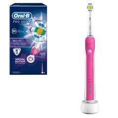 Зубная щетка электрическая ORAL-B (Орал-би) PRO 500 3D White D16, картонная упаковка