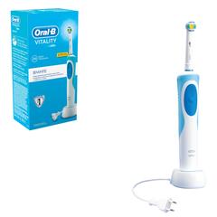 """Зубная щетка электрическая ORAL-B (Орал-би) Vitality 3D White D12.513, """"Отбеливающая"""", картонная упаковка"""