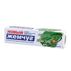 """Зубная паста 100 мл, НОВЫЙ ЖЕМЧУГ """"Семь трав"""", комплексная защита десен"""