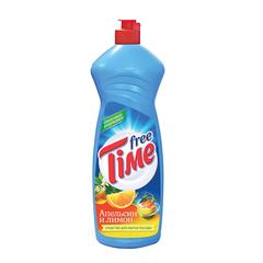 """Средство для мытья посуды 1 л, FREE TIME (Фри Тайм) """"Апельсин и лимон"""""""