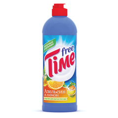 """Средство для мытья посуды, 500 мл, FREE TIME (Фри Тайм) """"Апельсин и лимон"""" (Нэфис Косметикс)"""