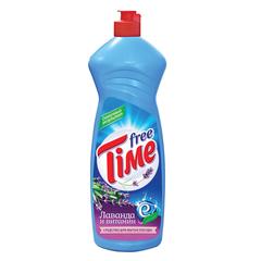 "Средство для мытья посуды 1 л, FREE TIME (Фри Тайм) ""Лаванда и витамин Е """
