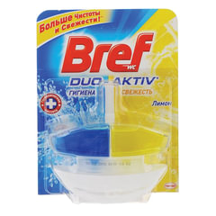 "Освежитель WC (для туалета) жидкий, 50 мл, BREF (БРЕФ), Дуо-Актив ""Лимон"""
