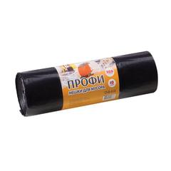 """Мешки для мусора, 360 л, особо прочные, комплект 10 шт., ПВД, 110х140 см, 65 мкм, КБ """"Профи"""", черные"""