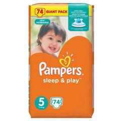 Подгузники 74 шт., PAMPERS (Памперс) Sleep&Play, размер 5 (11-18 кг)