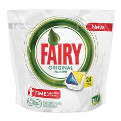 """Средство для мытья посуды в посудомоечных машинах, 24 шт., FAIRY (Фейри) """"All in 1 Лимон"""", капсулы"""