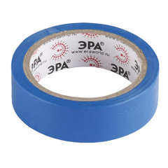 Изолента ПВХ, ЭРА, 15 мм х 10 м, синяя
