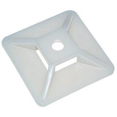 Площадки для крепления хомутов пластиковые, белые, 28 мм х 28 мм, ПОД ВИНТ, комплект 100 шт., REXANT