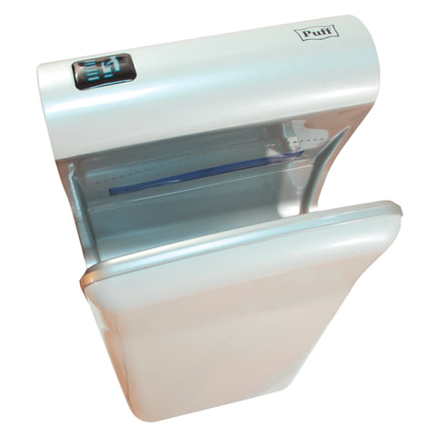 Сушилка для рук PUFF 8870, 2000 Вт, скорость потока 95 м/с, погружного типа, пластик, белая