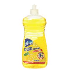 """Средство для мытья посуды 500 мл, CHIRTON (Чиртон), с глицирином, """"Лимон"""""""