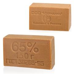 Мыло хозяйственное 65%, 150 г (Меридиан), без упаковки