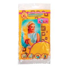 Перчатки хозяйственные резиновые YORK AZUR, с х/б напылением, рифленая ладонь, размер XL (очень большой)