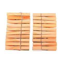 """Прищепки бельевые деревянные, комплект 20 шт., универсальные, YORK AZUR """"Эко"""""""