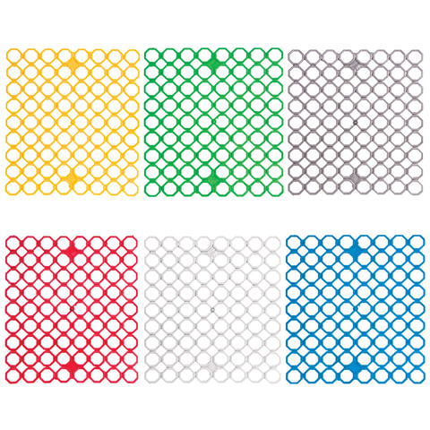 Сетка-решетка для раковины эластичная, прямоугольная, 29х26х0,5 см, цвет ассорти, YORK