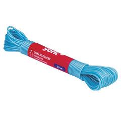 Шнур (веревка) для белья пластиковый, 20 м, цвет ассорти, YORK