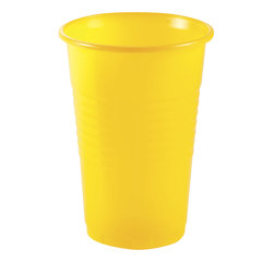 Одноразовый стакан, ЭКОНОМ, 200 мл, 1 шт., полипропилен (ПП), желтый, холодное/горячее, СТИРОЛПЛАСТ