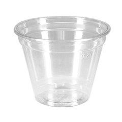 Одноразовый стакан, 200 мл, ПЭТ, прозрачный, для холодных напитков/десертов, СТИРОЛПЛАС