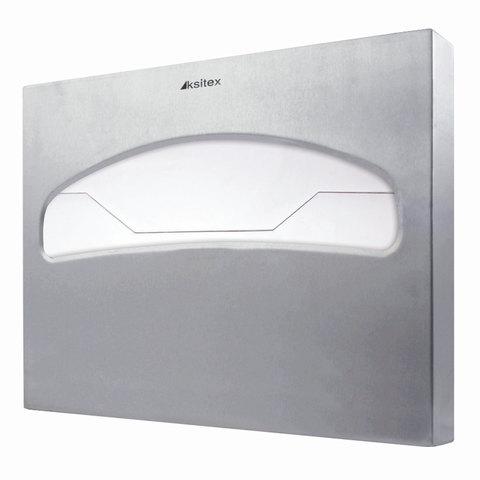 Диспенсер для покрытий на унитаз KSITEX (покрытия 1/2 сложения), нержавеющая сталь, матовый, TC-506-1/2