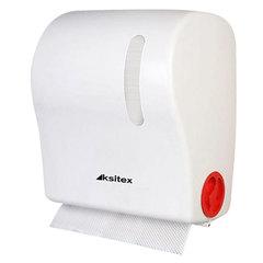 Диспенсер для полотенец в рулонах KSITEX, бесконтактный, с автообрезанием бумаги, белый, АС1-18