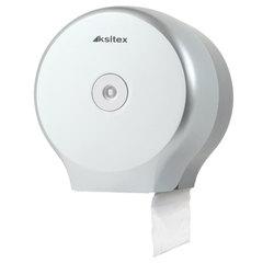 Диспенсер для туалетной бумаги KSITEX, в стандартных рулонах, серебристый, ТН-8127F