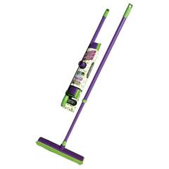 """Щетка для уборки (резиновая щетина+стяжка), ручка телескопическая 80-120 см, YORK """"Prestige"""""""