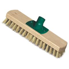 Щетка-скраббер для уборки техническая, ширина 23 см, длина щетины 2,5 см, деревянная, YORK