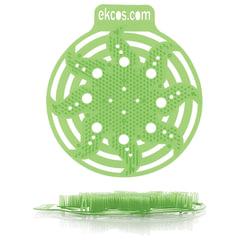 """Коврики-вставки для писсуара, ЭКОС (POWER-SCREEN), на 30 дней, комплект 2 шт., """"Яблоко"""", цвет салатовый"""