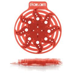 """Коврики-вставки для писсуара, ЭКОС (POWER-SCREEN), на 30 дней, комплект 2 шт., """"Дыня"""", цвет красный"""
