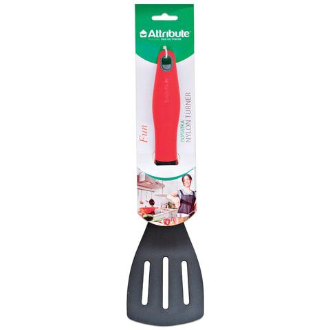 """Лопатка для кухни, пищевой термостойкий пластик, цветная рукоятка, подвес, """"Fun"""", ATTRIBUTE"""
