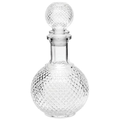 Графин-штоф 1л, стеклянный, декоративная крышка-заглушка, подарочная упаковка, Baron