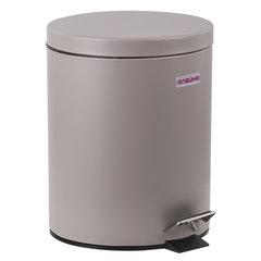 """Ведро-контейнер для мусора (урна) с педалью ЛАЙМА """"Classic"""", 12 л, серое, матовое, металл, со съемным внутренним ведром"""
