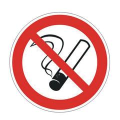 """Знак запрещающий """"Запрещается курить"""", круг, диаметр 200 мм, самоклейка"""