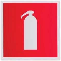 """Знак пожарной безопасности """"Огнетушитель"""", 200х200 мм, самоклейка, фотолюминесцентный"""