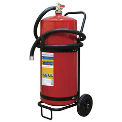 Огнетушитель порошковый ОП-50, передвижной, АВСЕ (твердый, жидкий, газообразные вещества, элементы установки), МИГ