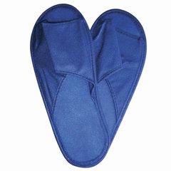 Тапочки спанбонд открытые эконом, 180 г/м2, подошва изодом, 3 мм, размер 38-42, синие, полибэг+стикер