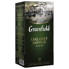 """Чай GREENFIELD """"Earl Grey"""", черный с бергамотом, 25 пакетиков в конвертах по 2 г"""