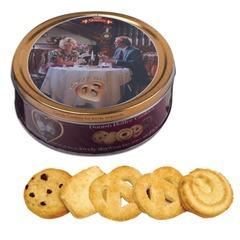 """Печенье датское BISCA Queen's """"Чудесные дни"""", сливочно-шоколадное, в железной банке, 454 г"""